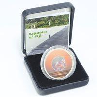 Fiji $10 Diamond Sunset Stone inserts Silver coin 2012