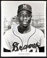 Vintage 1960s Hank Aaron Signed Photo (PSA/DNA COA)
