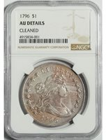1796 Draped Bust Dollar with Small Eagle Reverse -- NGC AU Details