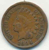 1894 INDIAN HEAD CENT-SEMI KEY DATE-NICE CIRCULATED CENT-SHIPS FREE! INV:1