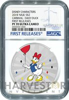 DISNEY MICKEY & FRIENDS CARNIVAL COIN: DAISY DUCK - NGC PF70 FIRST RELEASES