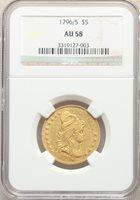 1796/5 $5 AU58 NGC