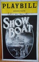 John McMartin (only) Signed Signed Playbill Show Boat Mark Jacoby Rebecca Luker