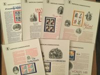 US Stamps: Commemorative Panels: 1982 Part 1; #CP157-163; With Sleeves; 7 Diff.