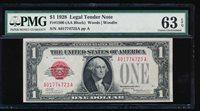AC 1928 $1 Legal Tender PMG 63 EPQ UNCIRCULATED Fr 1500