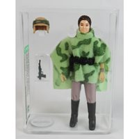 1984 Kenner Star Wars Loose Action Figure / Leia Combat Poncho (Pink Face / Pale hands) AFA 85 NM+ #11214868