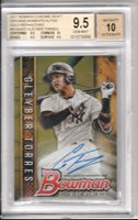 Gleyber Torres 2017 Bowman Chrome Gold Refractor Autograph RC *BGS 9.5 AUTO 10*