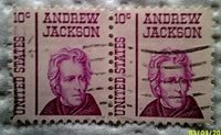 1967 U. S. Scott 1285 Andrew Jackson two used and cancelled ten cent stamps