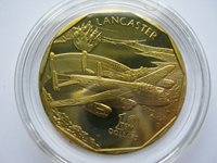 Marshall Islands 1991 Aircraft of WWII brass prooflike $10 Lancaster