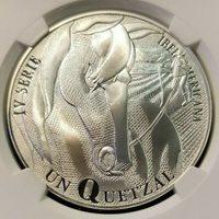 2000 GUATEMALA SILVER QUETZAL MAN AND HIS HORSE NGC PF 69 ULTRA CAMEO TOP POP