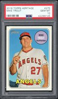 MIKE TROUT 2018 TOPPS HERITAGE #275 PSA 10 **ANGELS STAR**