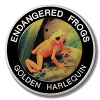 Malawi Endangered Frogs Golden Harlequin Frog 10 Kwacha 2010 Proof Colored Coin