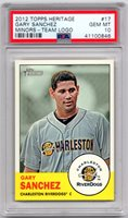 Gary Sanchez 2012 Topps Heritage Minor League #17 Yankees - PSA 10 GEM MINT