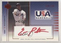 2003 Upper Deck USA Baseball Team Signatures Red Ink #S-13 Paul Janish Auto Card