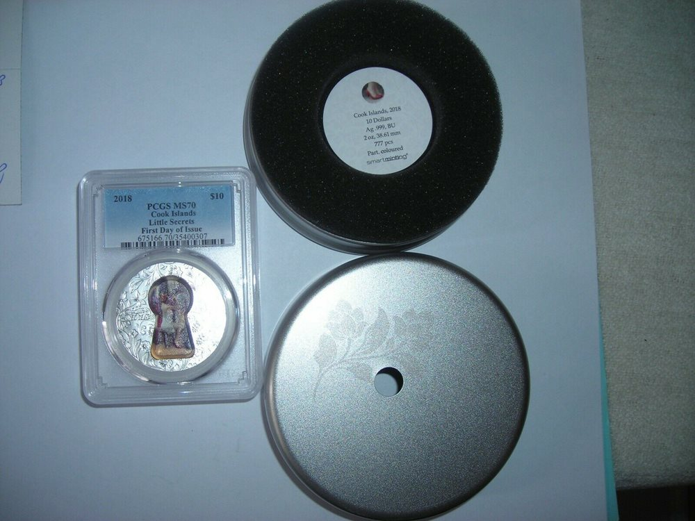 2018 $10 Cook Islands Little Secrets 2oz .999 Silver Coin PCGS MS70 FD