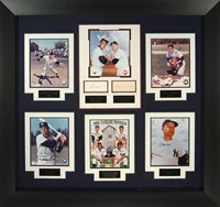 1961 NY Yankees Baseball Framed Signature World Series Championship by JSA 45 x 42