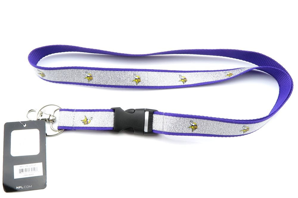 MINNESOTA VIKINGS NFL Football Official Licensed Sparkle Lanyard Key Chain.  Click To Enlarge 29821305c