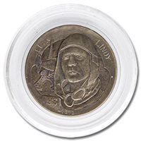 Lee Griffiths Hobo Nickel Carved On A Mint State 1913 Buffalo Nickel - Lucky Lindy Spirit of St, Louis