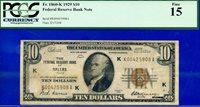 *FR-1860-K 1929 $10 FRBN (( Rare Key Dallas )) PCGS Fine 15 # K00425908A