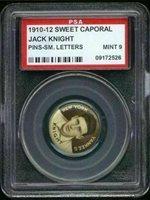 1910 P2 Sweet Caporal Pins Jack Knight SL PSA 9 New York Yankees