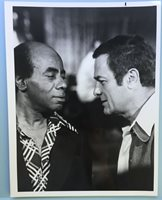 "Photo of Tony Curtis & Roscoe Lee Browne B&W Picture McCoy TV Series 1975 7""X9"""