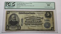 $5 1902 Odessa Delaware DE National Currency Bank Note Bill! Ch. #1281 PCGS!