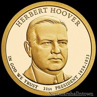 2014 P Herbert Hoover Presidential Dollar ~ Position B ~ From U.S Mint Roll