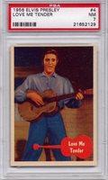 1956 Elvis Presley - Love Me Tender #4 PSA 7