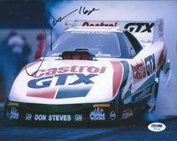 John Force Signed 8X10 Autographed PSA/DNA COA NHRA Funny Car Z51043 Castrol GTX