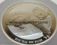 2012 P Australia 10 oz Silver Coin 10 Dollars Koala Bear on Eucalyptus NGC MS69