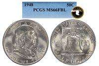 1948-P EVEREST FRANKLIN PCGS MS 66 FBL