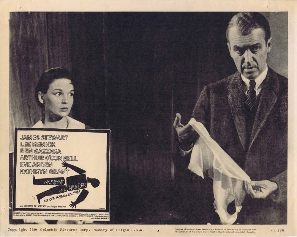 Anatomy Of A Murder Lobby Card 4 James Stewart Lee Remi