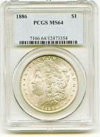 1886 Morgan Dollar PCGS MS64