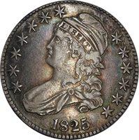 1825 O-101 Capped Bust Half Dollar