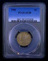 1906 Liberty Head Nickel PCGS AU 58 002