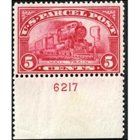 US Q05 Parcel Post F NH Plate 6217