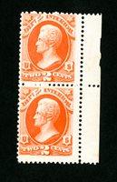 US Stamps # O16 FVF OG NH Pair Scott Value $320.00