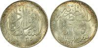 EGYPT , 5 PIASTRES SULTAN FUAD FOUAD 1920 PCGS MS 64 , RARE