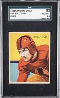 """1935 National Chicle #27 """"Bull"""" Tosi, Scarce """"High Number"""" – SGC 92 NM-MT+ 8.5"""