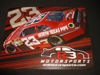 2012 RICHARDSON / RIGGS #23 NORTH TEXAS PIPE SPRINT CUP NASCAR POSTCARD