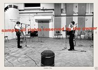 BEATLES IN EARLY STUDIO SESSION AT ABBEY RD STUDIOS INCREDBLE SET OF 2 5 BY 7
