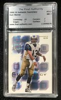 2000 SP Authentic Supremacy #S12 Kurt Warner St. Louis Rams TFA Graded 7 NM
