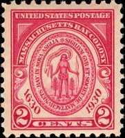 Scott 682 — 2c Massachusetts Bay Colonization Pane Single: F-LH