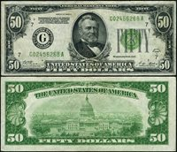 FR. 2101 G $50 1928-A Federal Reserve Note Chicago G-A Block XF DGS