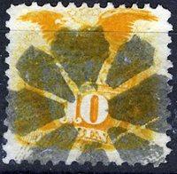 US Scott Number 116 10¢ 1869. Pretty Geometric cancel. . Price $200 USD