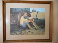 Snidow Chuckwagon Coors Cowboy Framed Print Signed
