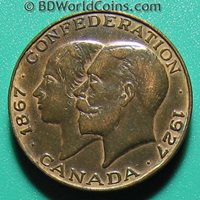1867-1927 CONFEDERATION CANADA MEDAL CANADIAN COLLECTABLE BRONZE 11.3gr 25.4mm