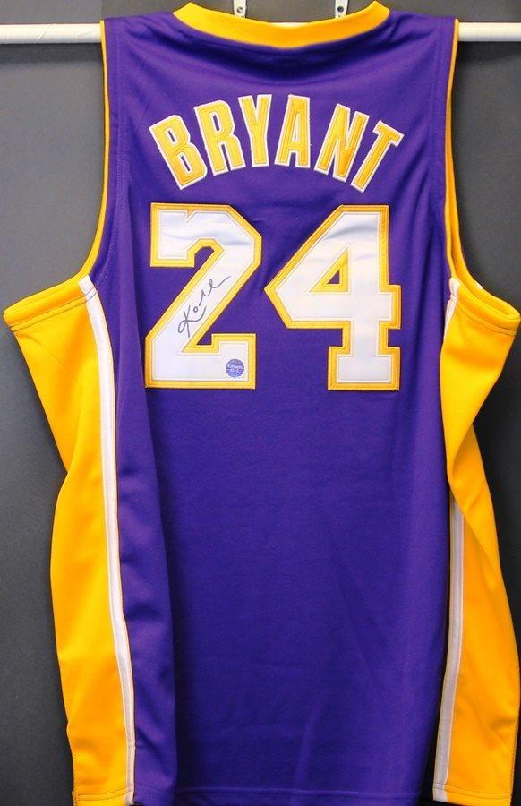 Kobe Bryant Autographed Purple Lakers Jersey