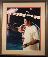 Muhammad Ali Autographed 1996 Olympic Photo