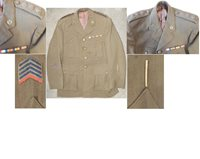 MIL2114. NZ ARMY SERVICE DRESS OFFICERS TUNIC TYPE 4 - 15th N.A
